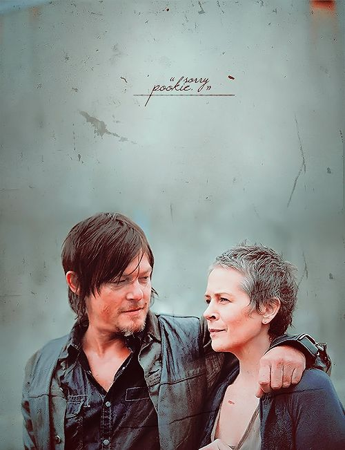 """Just so you know, I liked you first."" Carol Peletier and Daryl Dixon ~ The Walking Dead Fan Art"