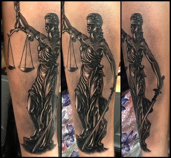Lady Justice... | InkFreakz.com | Tattoos | Pinterest
