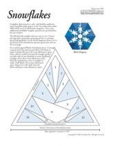 paper pieced snowflake