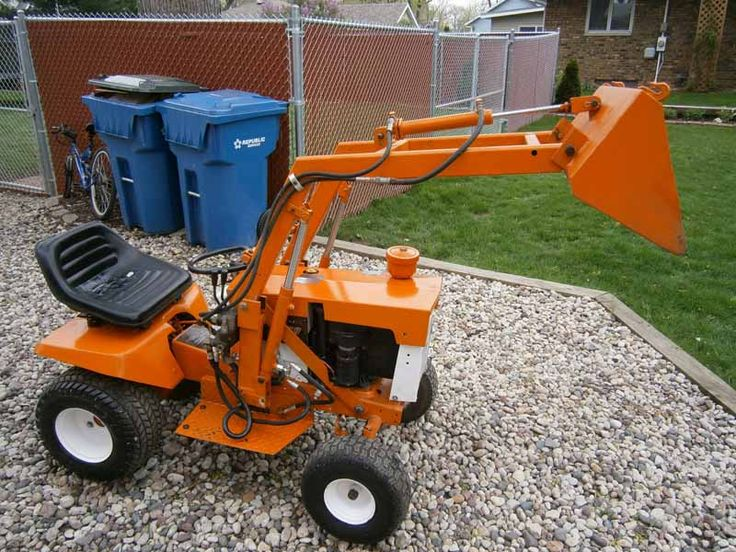Garden Tractor Loader : Loader attachment for garden tractor fasci
