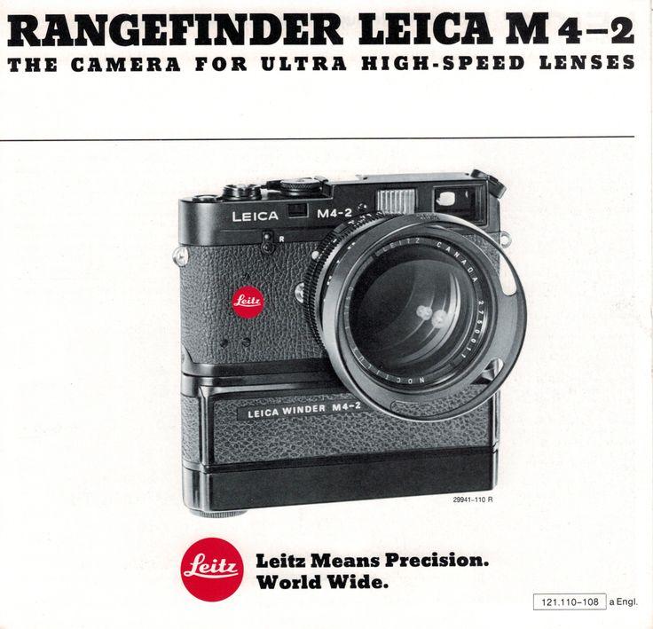 Rangefinder Leica M4-2 Camera Sales Brochure Original 1978 Leitz