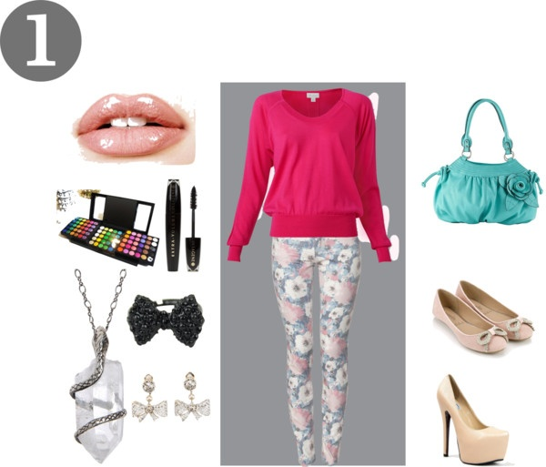 """""""Floral Pants- Outfit #1"""" by kjblb on Polyvore"""