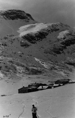 DigitaltMuseum - Skiløper ved Spiterstulen i Jotunheimen.