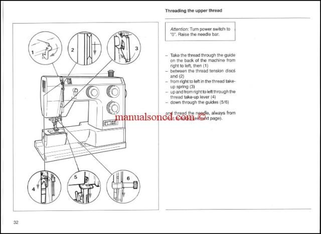 Bernina Bernette 715, 730, 740E Sewing Machine Instruction Manual.  50 pages of great information. How to thread the machine, wind the bobbin and more. A download link will be emailed to you.