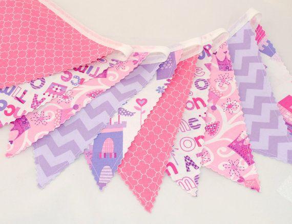 Birthday Bunting Banner  Fairytale Castles by BeautifulThinkingUK