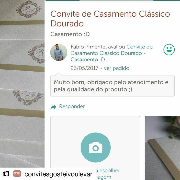 #Repost @convitesgosteivoulevar (@get_repost) ・・・ O noivo Fábio de Feira de Santana na Bahia, confirmou o recebimento dos seus convites e deixou uma avaliação pra gente! ���� #convitepadrinhos #convite15anos #noivas2017 #noivas #bride #wedding #convites #convitedecasamento #gosteivoulevar #designdeconvites #papelariapersonalizada #caixaparapadrinhos #noivinhasdeluxo #noiva2017 #noivinhos #noivinhadoano #casar http://gelinshop.com/ipost/1523865444410698432/?code=BUl24xDl6rA