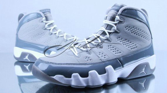 cf3842bd0ebedc Young Air Jordan IX Boys Shoe 302370 015 Medium Grey Cool Grey White ...