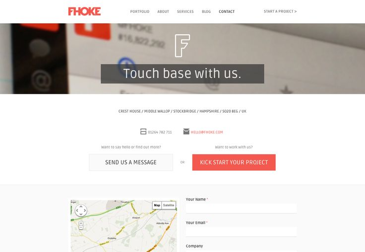 20 excellent contact pages photo