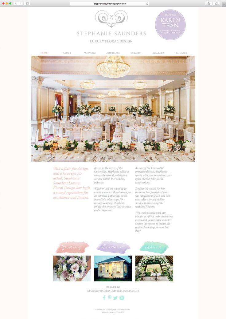 Stephanie Saunders Flowers, Luxury Floral Design, Re-Brand, Digital Marketing, Website Design. By Leaff Design, Worcester UK.