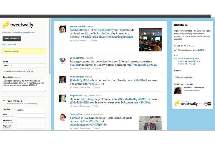 tweetwally, een manier om een twitterwall aan te maken