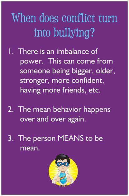 conflict vs. bullying