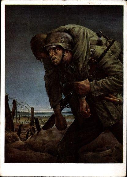 Postkarte Tschech, Will, Kameraden, Wehrmacht, HDK 143