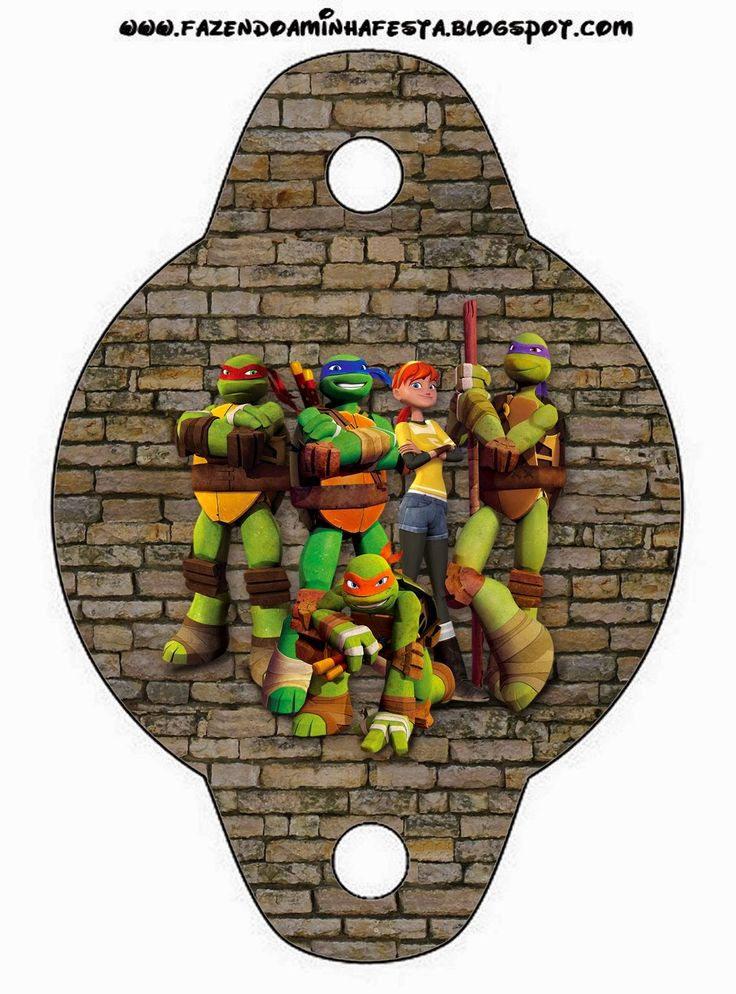 Tortugas Ninja: Invitaciones e Imprimibles para Imprimir Gratis.