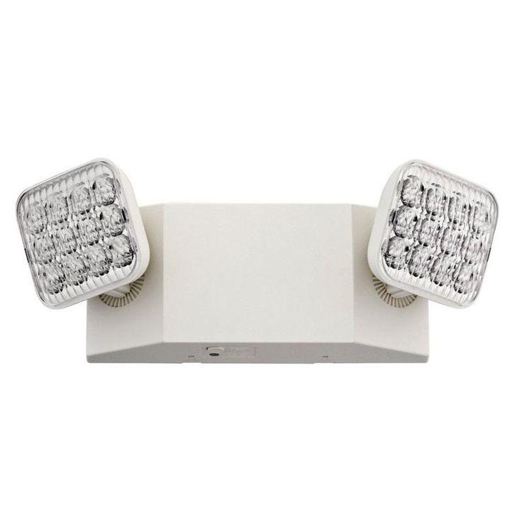 Lithonia Lighting 245U5K LED Lens Emergency Light, White
