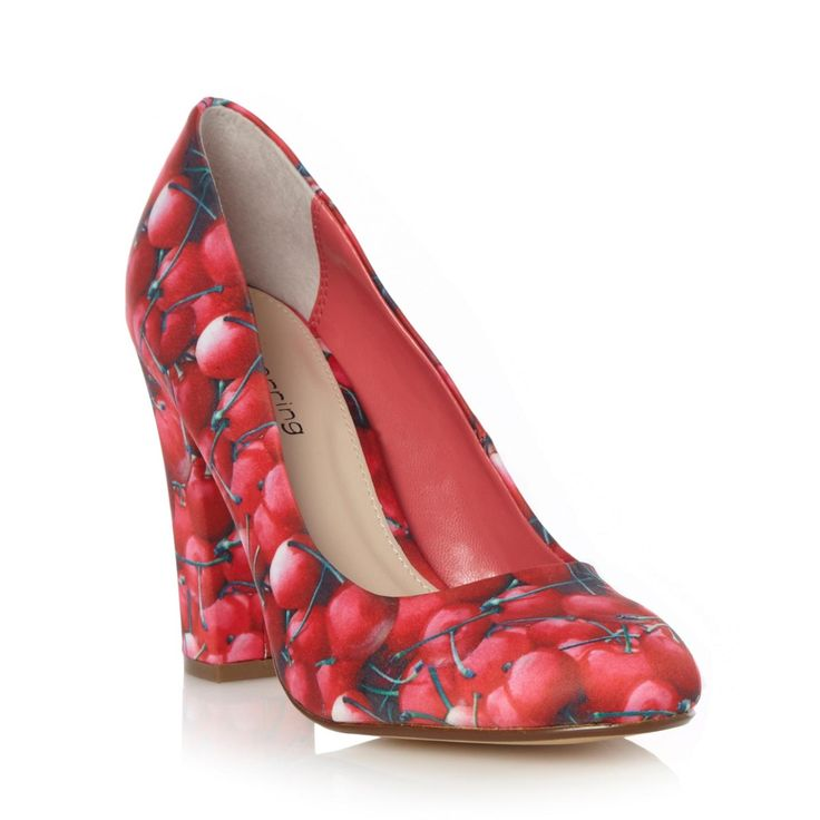 Pink cherry printed high court shoes http://picvpic.com/women-shoes-pumps/pink-cherry-printed-high-court-shoes#multicoloured