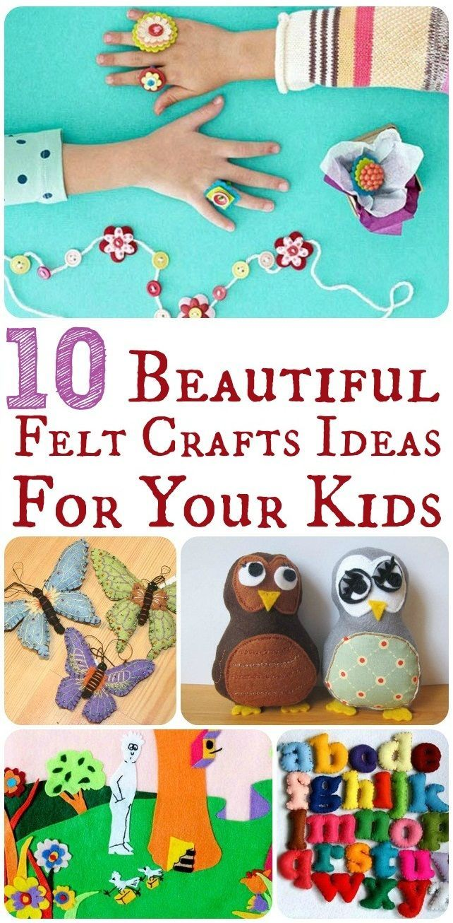 Top 10 Beautiful  Easy Felt Crafts Ideas For Your Kids  MOre kids stuff available at   http://www.archiesonline.com/shop/kids-world  #archies #archiesonline