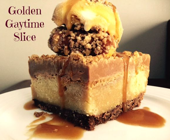 Golden Gaytime Slice