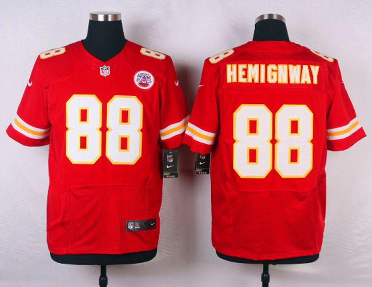 Kansas City Chiefs #88 Junior Hemingway Red Team Color NFL Elite Jersey
