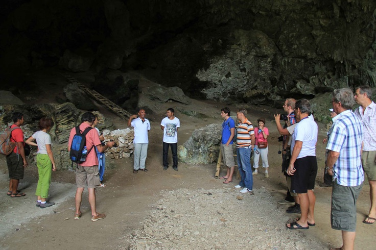 Liang Bua is a cave where Homo floresiensis were found. Their peculiar size to the land is a call for attention to the world of scientific research, a bridge to discover the past for clues of the future.