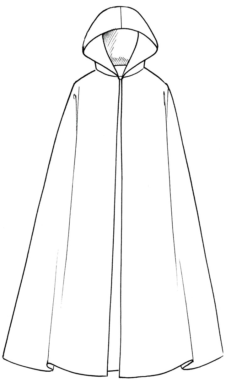 how to draw cape from back