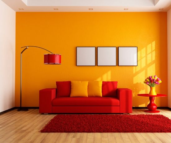 Red Orange Living Room Color Combination