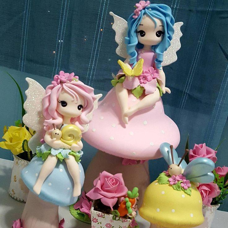 #biscuit #porcelanafria #artesanato #fadas#fadinhas#festafadas