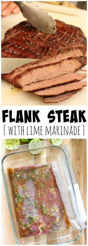 This flank steak with lime marinade recipe comes together in five minutes; just let it sit and grill! You'll love how juicy and delicious it is!