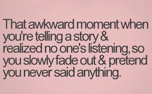 Hate that! it always happens to me....guess im not that interesting