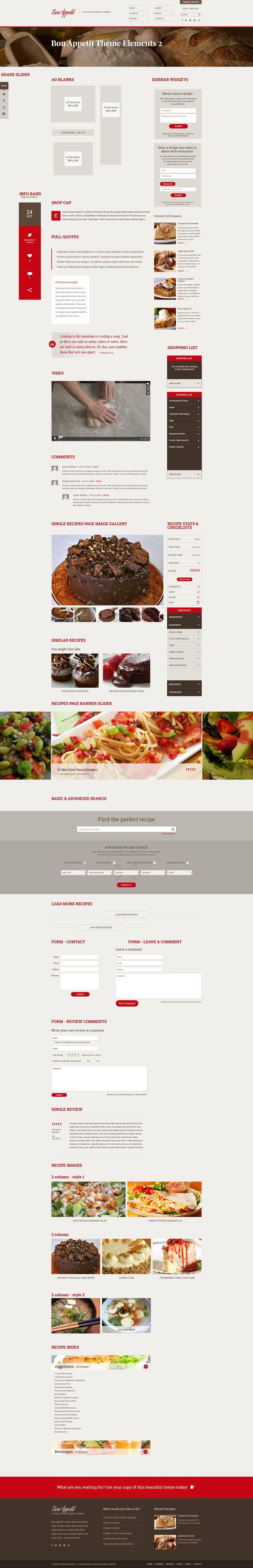 Bon Appetit | A Stylish Culinary Journal