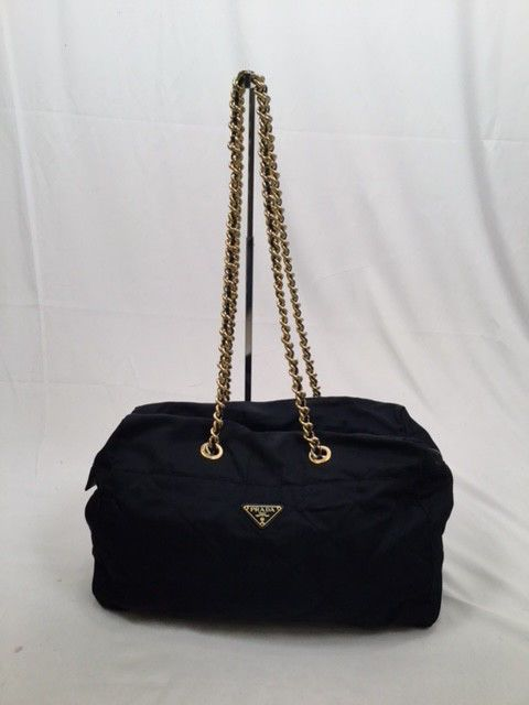 d414a36c048965 Vintage PRADA Midnight Blue Quilted Tessuto Nylon Gold Chain Shoulder Bag…@ebay  @pinterest #handbag #shoulder #canvas #wearsprada #guccigang