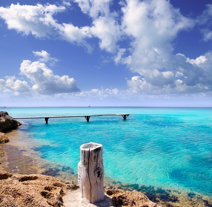 The island of Formentera, Spain. The clearest water I have ever been in.