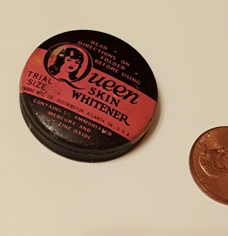 Antique Sample Tin Queen Skin Whitener Mercury Zinc Oxide Newbro Atlanta GA | eBay