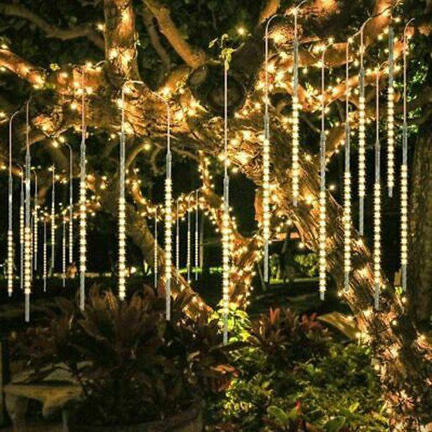Snorda 30cm Party Led Lights Shower Rain Snowfalls Christmas Tree Garden Outdoor Walmart Com Meteor Lights Outdoor Christmas Lights Diy Christmas Lights