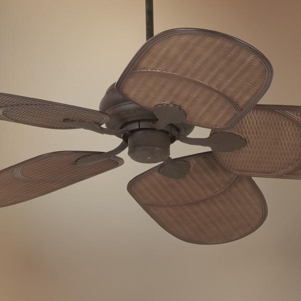 "52 Casa Vieja Tropical Veranda Bronze Outdoor Ceiling Fan: 52"" Casa Vieja® Rattan Outdoor Ceiling Fan"