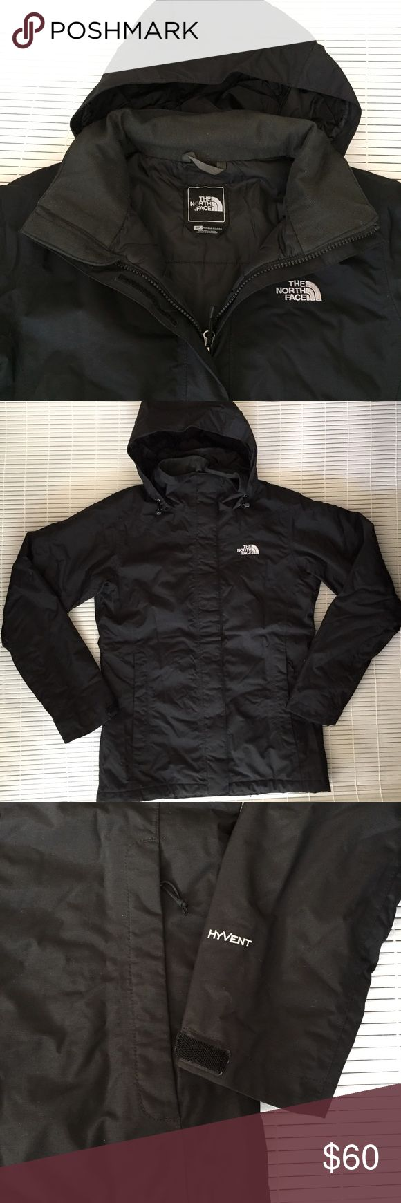 North Face Rain Jacket Lightly lined Hooded jacket, perfect for rain and mild climate. No flaws or damages. Purchased from North Face Outlet Store. North Face Jackets & Coats
