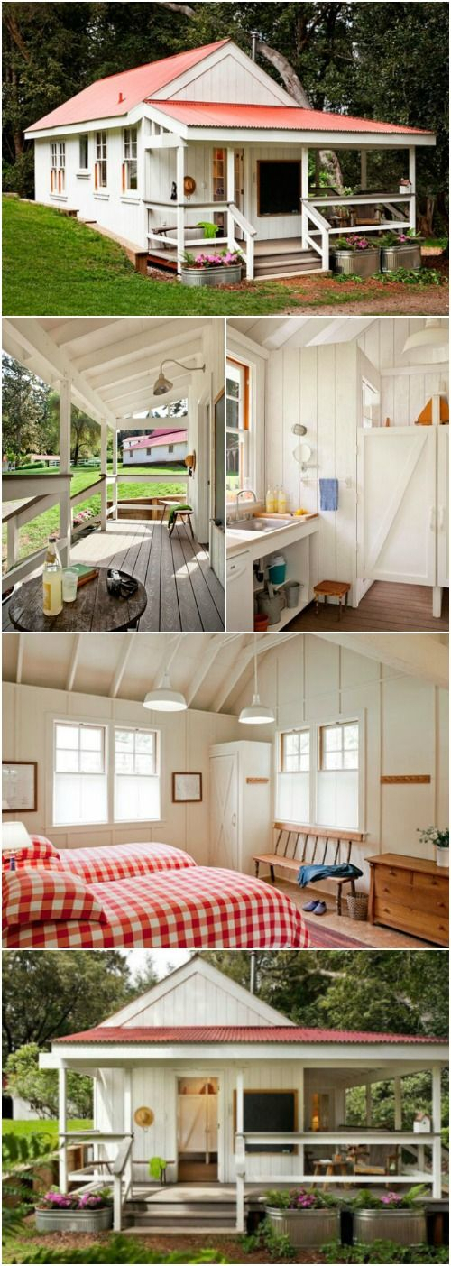 This Cozy 260 Sq. Ft. Tiny House in Northern California Was Made for Kids - This 260-square foot tiny house sits in the middle of a farm and is used to host a group of children every summer for a yearly family camp. You may think it would be too juvenile to be interested in, but you may be surprised once you look inside!