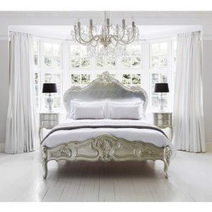Sylvia Serenity Silver French Bed By The French Bedroom Company