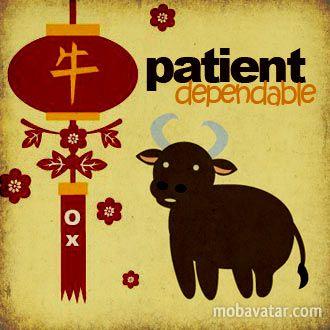 Ox #Chinese #Horoscope #Eastern #Zodiac 1949, 1961, 1973, 1985, 1997, 2009, 2021