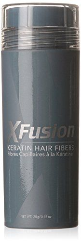 XFusion hair building fibers instantly make thinning hair look thick and full. Keratin fibers cling to existing hair and, in seconds, fill in all thinning or balding areas. XFusion won't come off in wind, rain or perspiration. It is totally undetectable, even from as close as two inch. All you will see is thicker looking hair. 98 ounce /28 gram economy size (75-day supply)