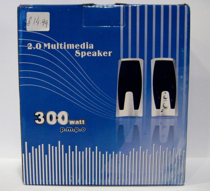300 watt Multi-media speaker suitable for PC/VCD. 220-230v 50-60Khz.  Controls for Volume. Phone jack. £14.99