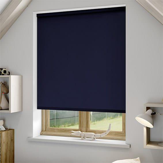 Sevilla Dark Blue Blackout Roller Blind Roller Blinds Red Blinds Blue Bedroom Blinds