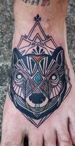 wolf: Tattoo Ideas, Feet Tattoos, David Hale, Wolf Tattoos, Shape Tattoo, Tattoo Inspiration, Geometric Tattoos, Bear Tattoos, Ink Tattoos