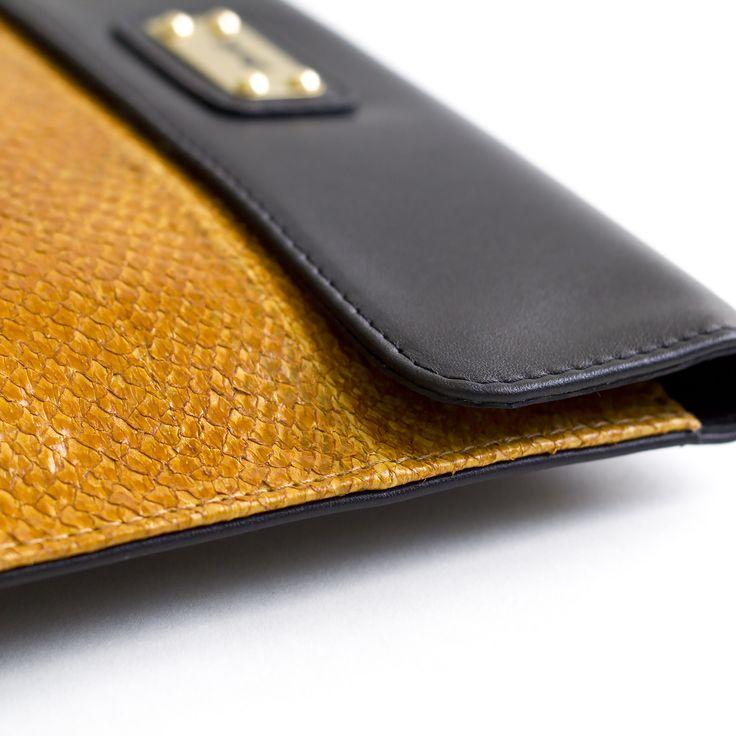 DAFNE salmon leather bag