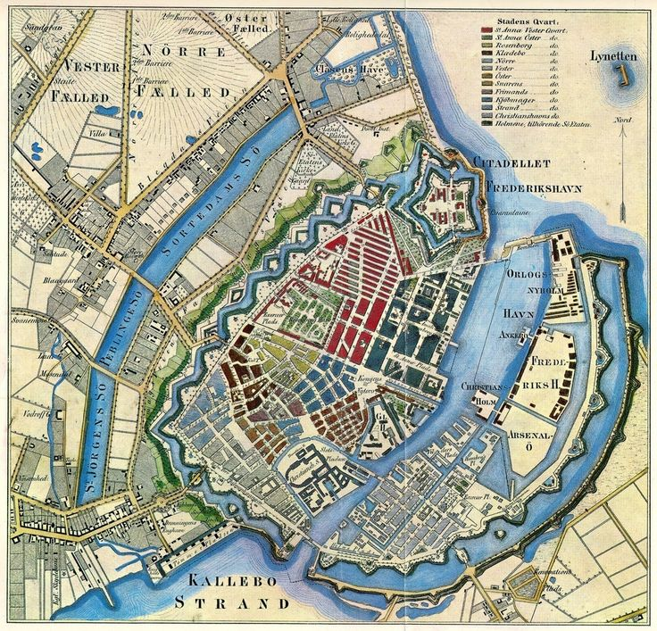 Copenhagen old map