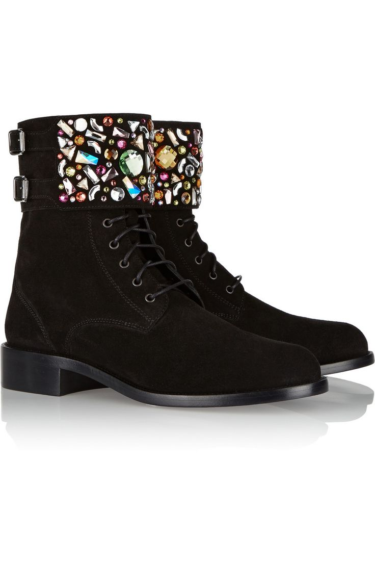 René CaovillaEmbellished suede ankle bootsfront