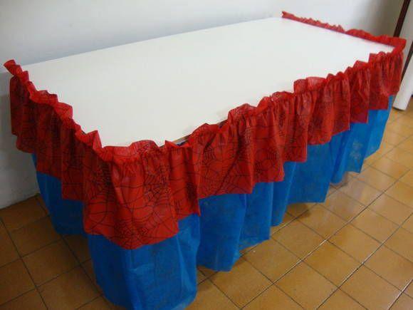 BABADO ESTAMPA - HOMEM ARANHA | BABADO DE MESA TNT - 19.8294-8455 | 276399 - Elo7