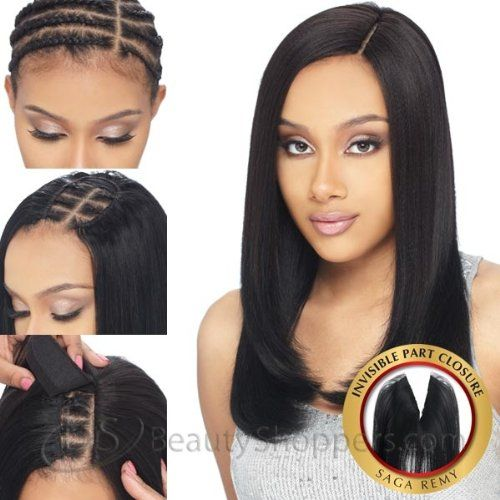 7 best hair weave images on pinterest hairstyles full lace wigs saga remy hair invisible part closure pmusecretfo Images