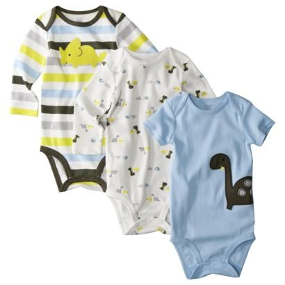 JUST ONE YOU ™ Made by Carters ® Infant Boys 3 Pack Assorted Bodysuit Set - Blue.Opens in a new window
