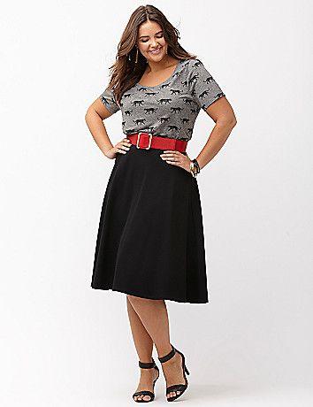 Ponte circle skirt by Lane Bryant | Lane Bryant