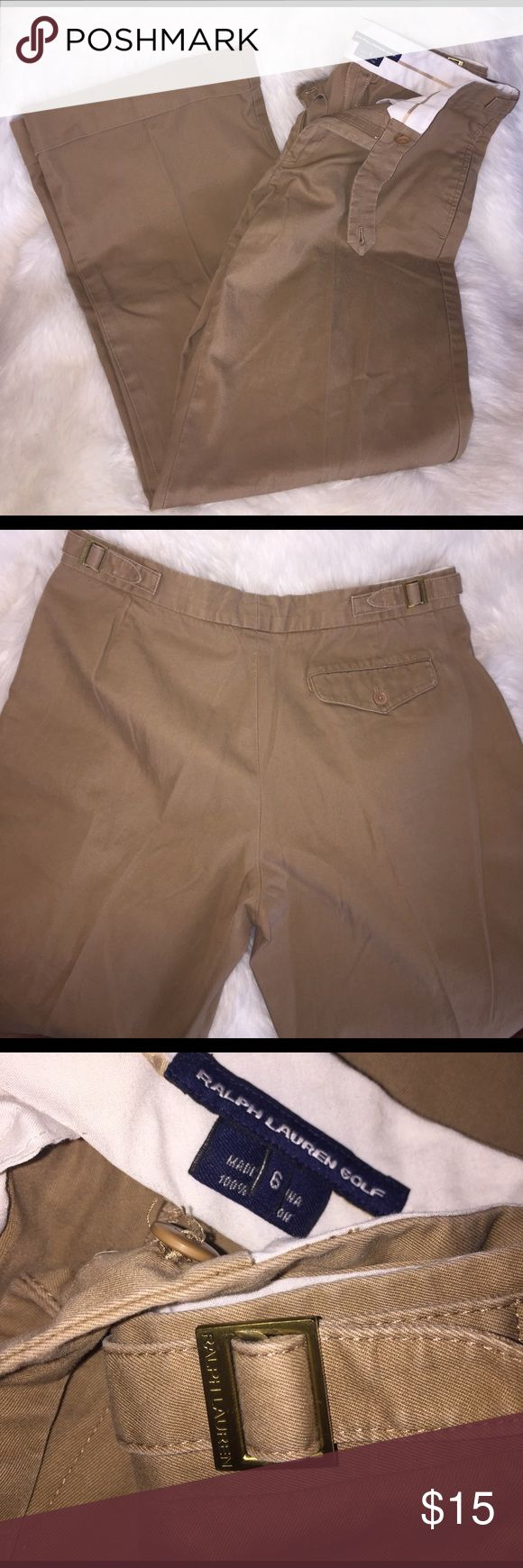 Women's Ralph Lauren Golf Pants Women's Ralph Lauren Golf Pants   Pleat down front, cuffed bottom   Size: 6  100% Cotton Ralph Lauren Golf Pants Trousers